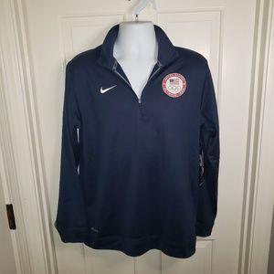 Nike Dri-Fit Men's 1/4 Zip USA Olympic Team NWT